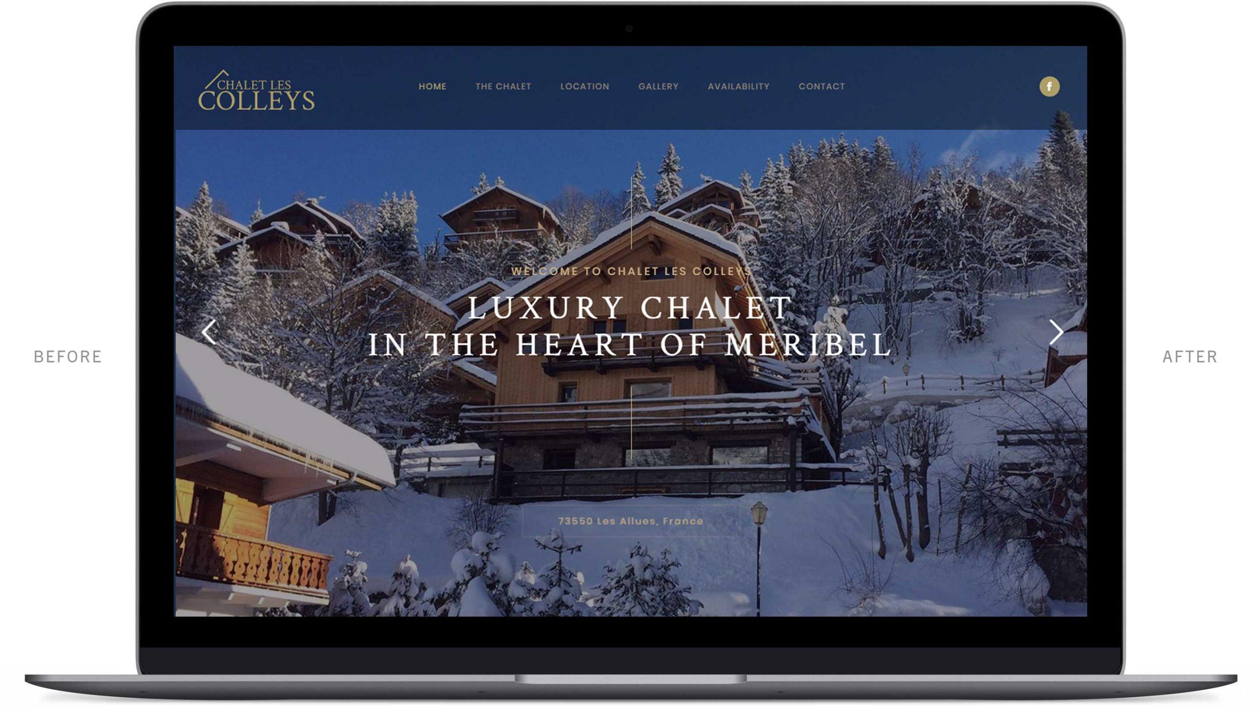 chalet in meribel website after