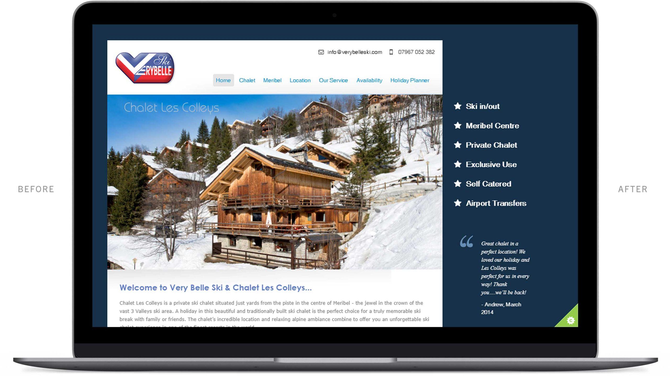 chalet in meribel website before