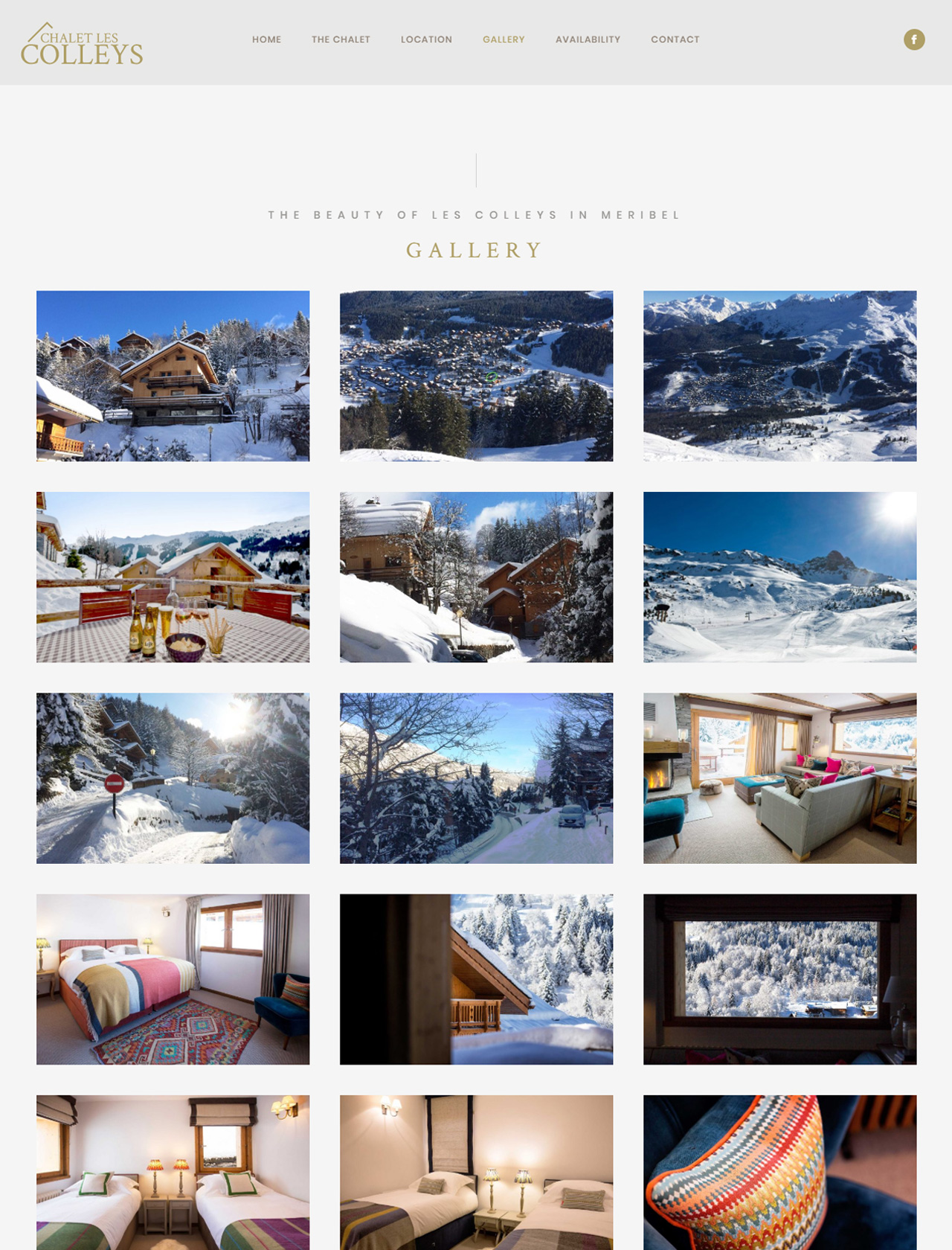 chalet in meribel website gallery page