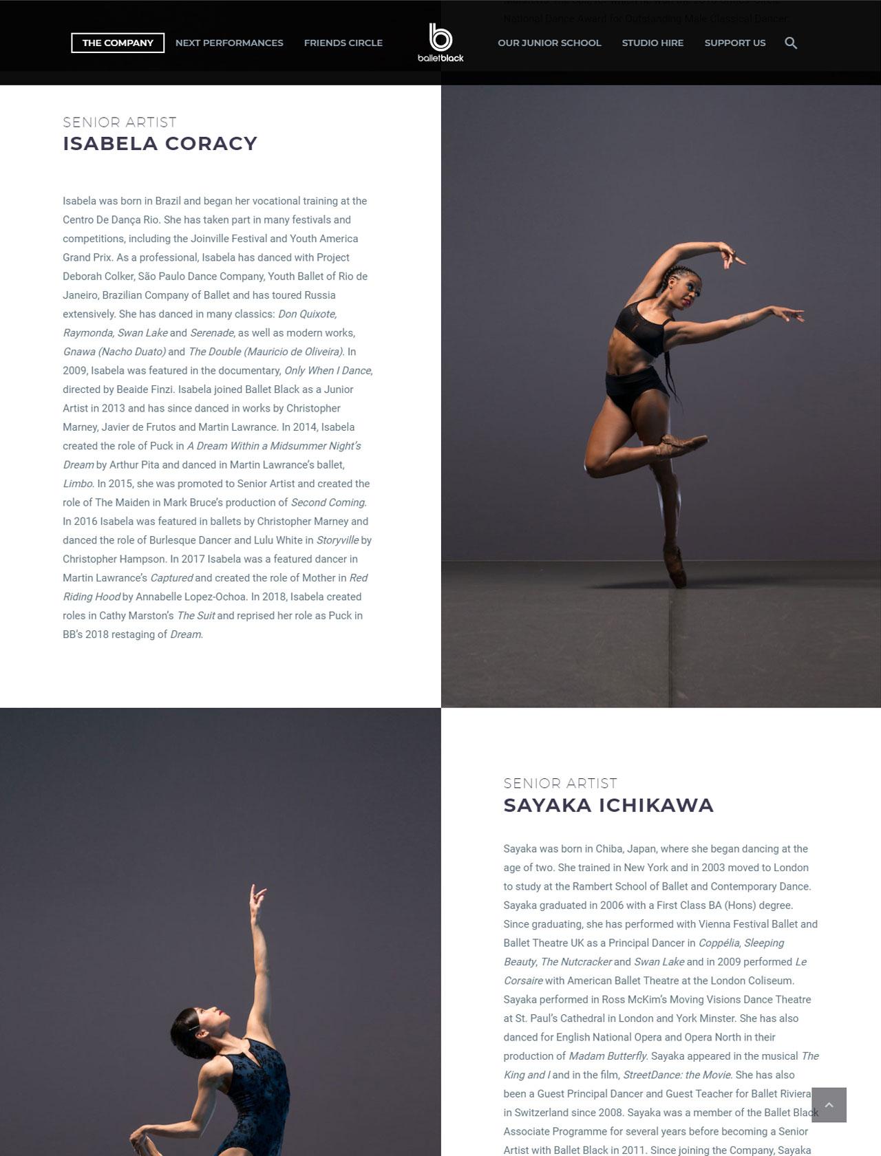 ballet black dancers page