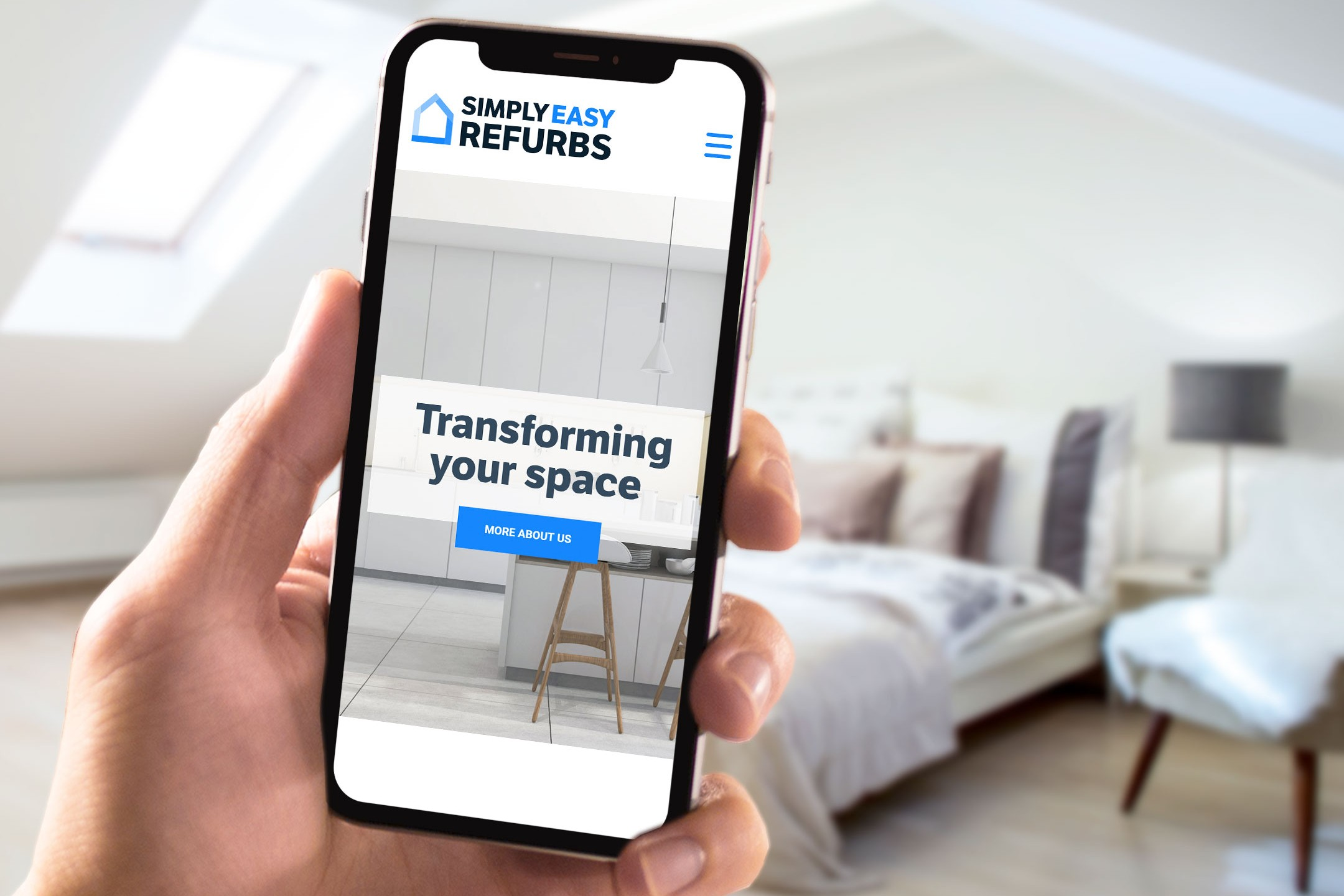 SimplyEasy Refurbs website on mobile
