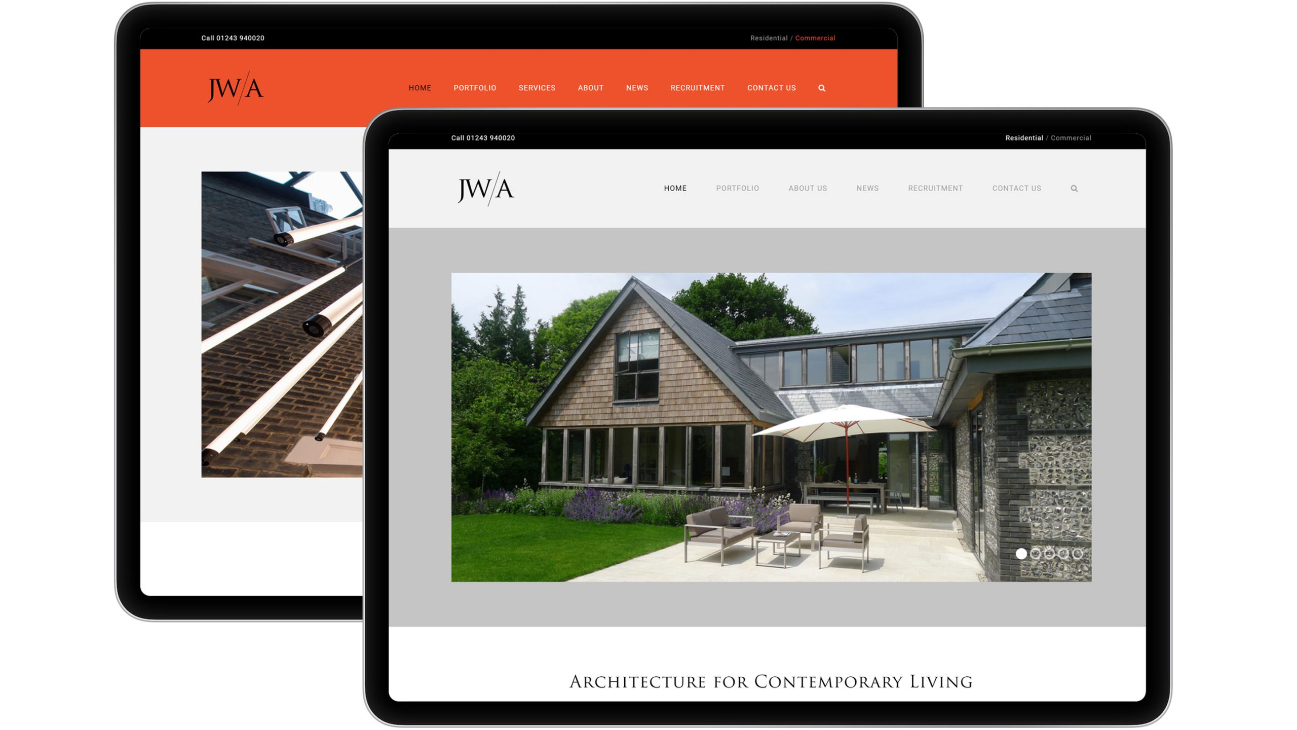 james wells architects and commecial on ipad tablets