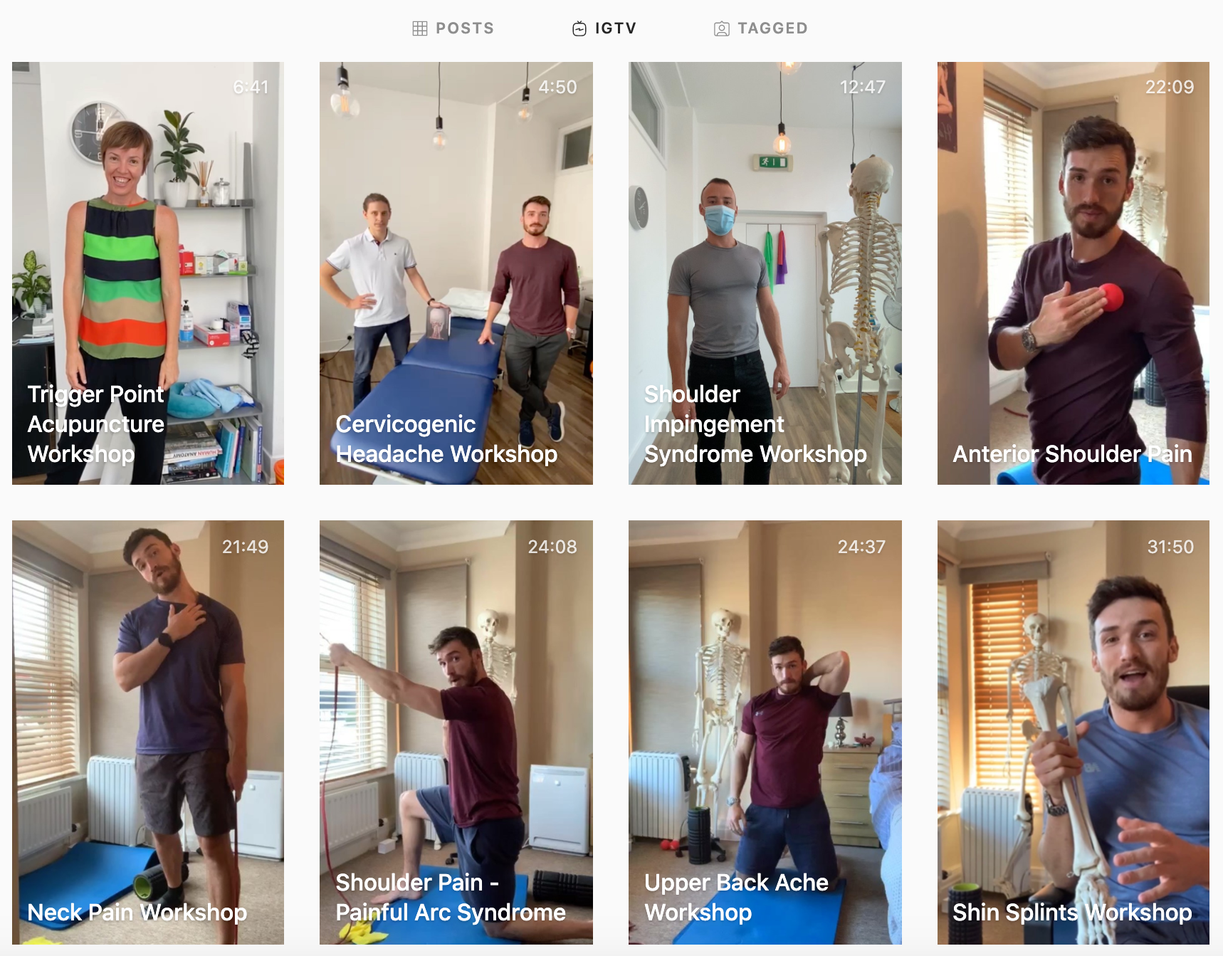 IGTV example to help grow small businesses