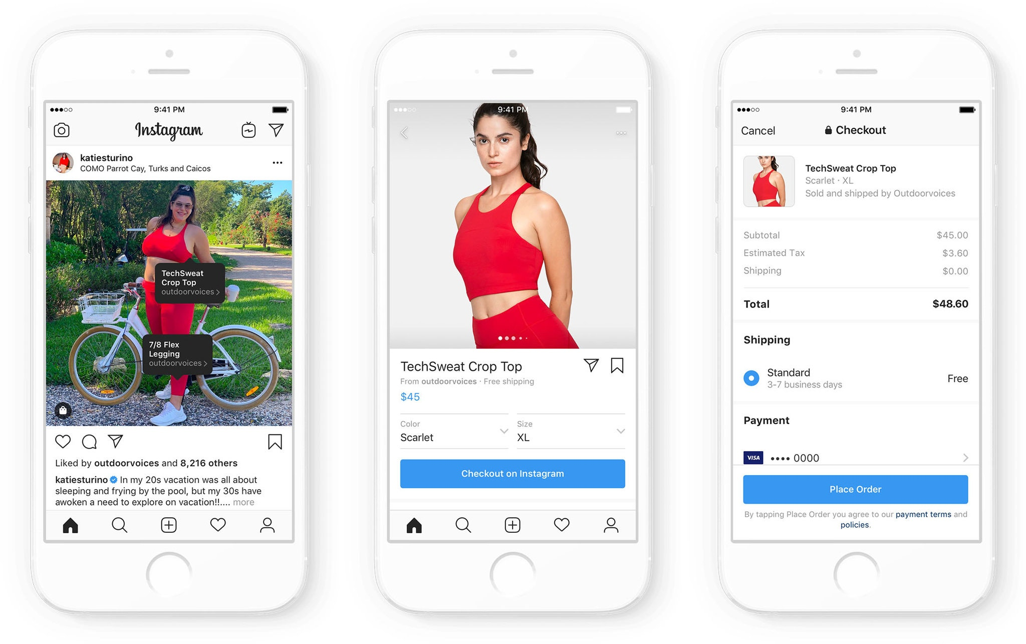 Instagram shopping example for small businesses