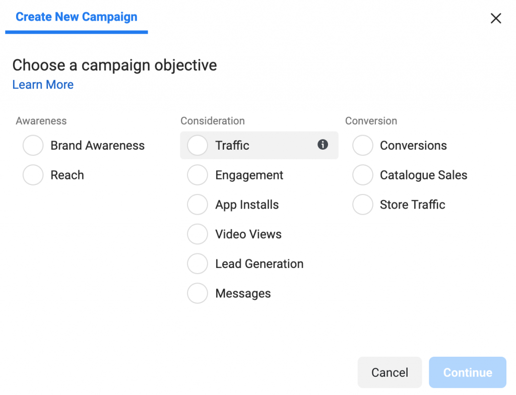 How do Facebook ads work? - Campaign objective