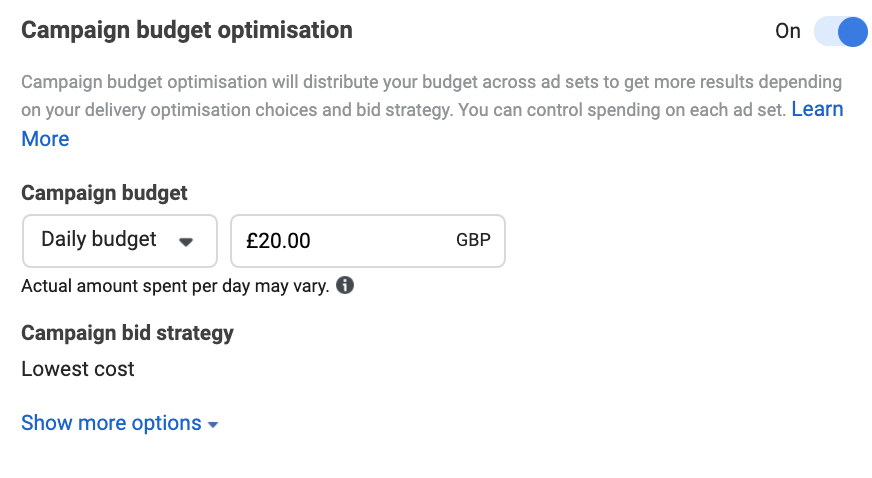 How do Facebook ads work? - Ad budget